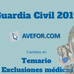 Cambios en el temario y las exclusiones médicas para Guardia Civil