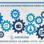 ¿Cuáles son las exclusiones médicas para Guardia Civil?