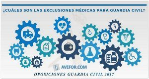 exclusiones médicas Guardia Civil