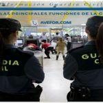 ¿Cuáles son las principales funciones de la Guardia Civil?