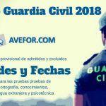 Ingreso Guardia Civil 2018: Admitidos, sedes y fechas