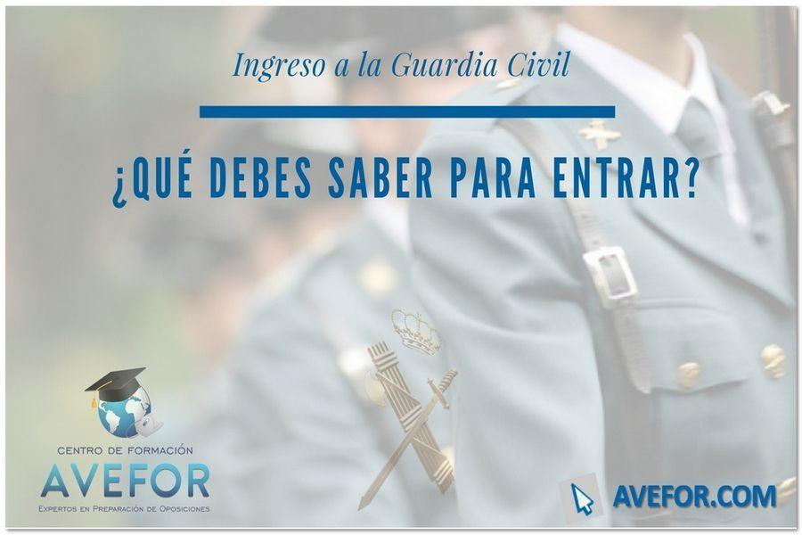 Ingreso a la Guardia Civil en 2021