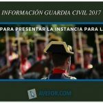Instrucciones para presentar la instancia a la Guardia Civil