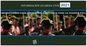 Instancia para la Guardia Civil 2021-2022