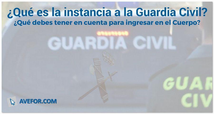 Qué es la instancia a la Guardia Civil