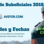 Sedes y fechas de las pruebas a la Escala de Suboficiales 2018
