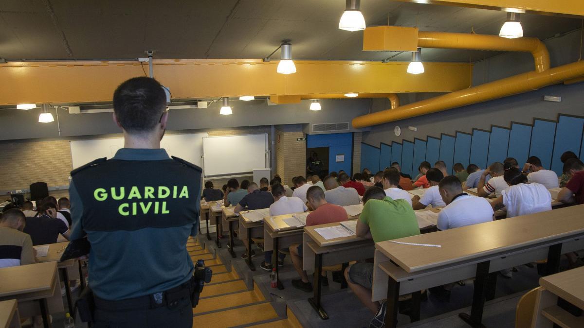 Examen Aspirantes plazas Guardia Civil